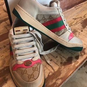 Gucci Worn Screener Sneakers